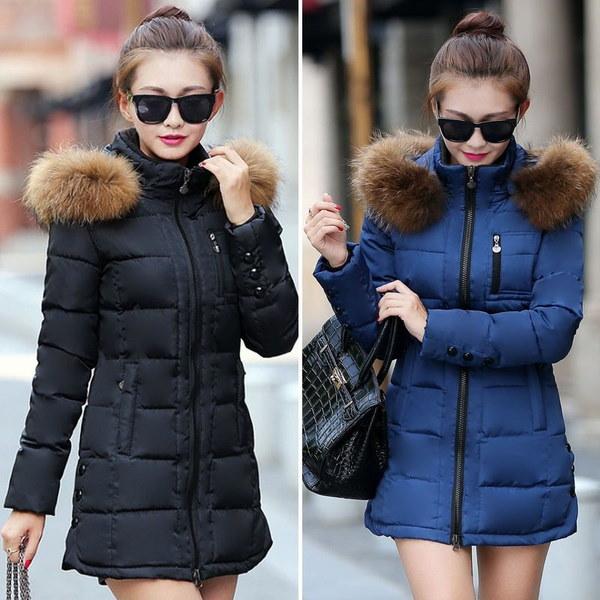 2017冬の女性のファッションウォームダウンジャケットコットンパッド入りジャケット