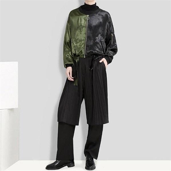 DOU152半分ジップアップジャケット 女性のジャケット / 韓国ファッション/ジャケット/秋冬/レディース/ハーフ/ロング/