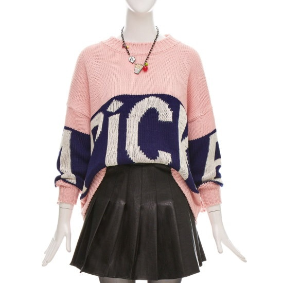 フォーカスルーズフィットレタリングニートCFGW1KT9040 ニット/セーター/韓国ファッション