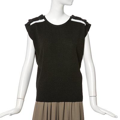 ラインリボン装飾ニートNKPOGE62 ロングニット/ルーズフィット/セーター/韓国ファッション