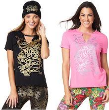 新着アイテム ZUMBA (ズンバ) LOVE Tシャツフィットネスウェア ダンスウェア ヨガウェア トレーニングウェア ZU1601
