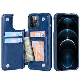 【限定ブランド】iPhone12ProMaxケース背面カードケース-米軍軍事規格スマホケースiPhone12ProMax手帳型ワイヤレス充電対応Araeアイフォン12プロマックス2020新型適応用財布