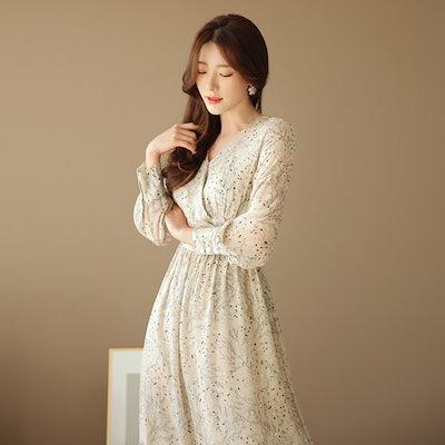 CHICLINE韓国ファッション★ラグジュアリーロマンチックルック [chicline] リバースタ·ワンピース CLJA-O-23