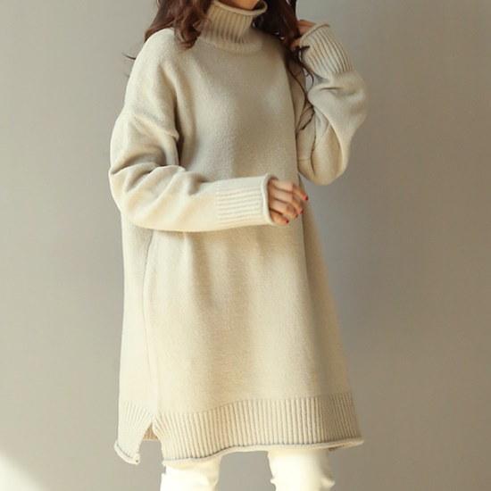 ビナインユリア・ニット ニット/セーター/タートルネック/ポーラーニット/韓国ファッション