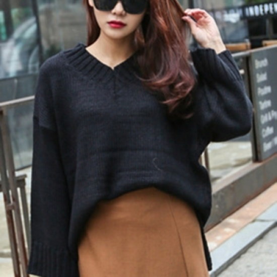 三女子モール三女子モールブイネクルージュニットティーGHS10841 ニット/セーター/ニット/韓国ファッション