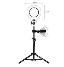 【2020新年大感謝祭!】激安セール 6インチ 50cm 三脚 生中継 自撮り ビューティー 照明ランプ 美しさ フィルライト HD LEDトリコロールリング フィルライト ユニバーサル