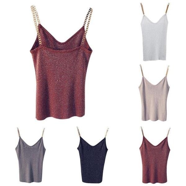 夏の女性のファッションスリムセクシーな編み上げタンクトップ女性のストレッチキャミソールノースリーブTシャツ