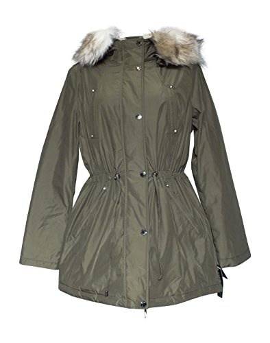 Laundry Womens Parka Coat Military Green Large
