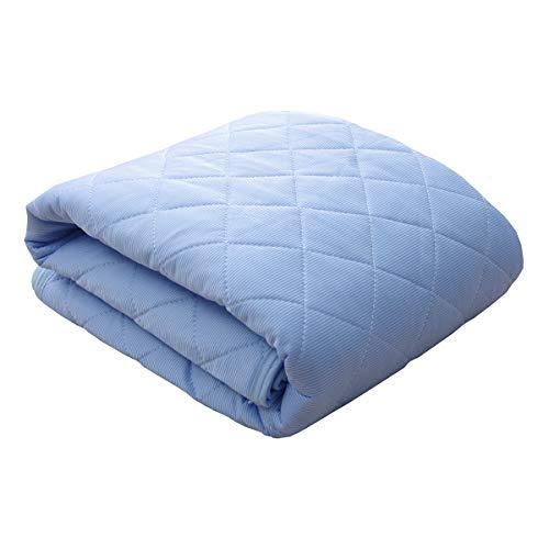 接触冷感 敷きパッド ダブル 洗える レノ 圧縮 ブルー 140×205cm 敷パッド ひんやりマット 冷感パッド 冷感マット #9844597