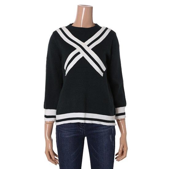 [半エイク]テープニットJ(VA81KTM301Z) ニット/セーター/パターンニット/韓国ファッション