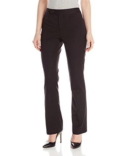 NYDJ Womens Petite Bi Stretch Welt Pocket Pant, Black, 10 Petite